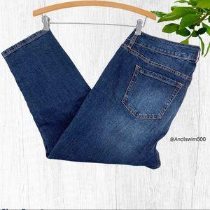 Torrid Straight Leg Medium Wash Blue Jeans; 14
